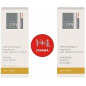 Ziaja Med Vitamin C & Hyaluronic Acid Dermatitis zpevňující krém na den s vitamín C + HA/P 50 ml + Med Vitamin C & Hyaluronic Acid Esence s vitamínem C + HA/P 30 ml, duopack