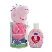 Peppa Pig - Prasátko Pepina Princess 3D Figurka koupelový a sprchový gel 250 ml + tělová žínka- maňásek, dárkový set pro děti expirace 02/2017