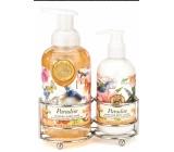 Michel Design Works Paradise peniace tekuté mydlo na ruky 530 ml + mlieko na ruky a telo, 236 ml kozmetická sada starostlivosti o ruky