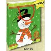 Nekupto Darčeková papierová taška 14 x 11 x 6,5 cm Vianočná 1705 50 WBS