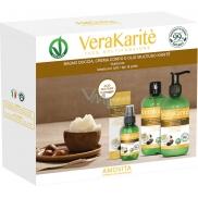 Amovita Vera Karité - Bambucké maslo telový olej 100 ml + telový krém 250 ml + sprchový gél 250 ml, kozmetická sada