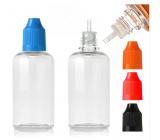 Fľaštička priehľadná plastová s kvapkadlom 100 ml