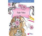 Ditipo Calm Style Vibes relaxačné maľovanky A4 32 strán