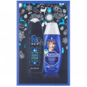 Fa Men Tropic Storm sprchový gél 250 ml + Schauma Men šampón na vlasy 250 ml, kozmetická sada
