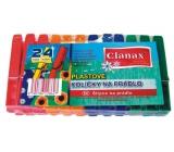 Clanax Štipce na bielizeň plastové 24 kusov