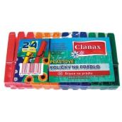 Clanax Kolíčky na prádlo plastové 24 kusů
