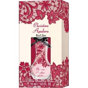Christina Aguilera Red Sin parfémovaná voda pro ženy 15 ml
