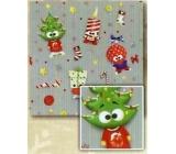 Nekupto Baliaci papier vianočné pre deti Strieborný, zelený strom 0,7 x 2 m