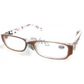 Berkeley Čtecí dioptrické brýle +3,5 plast oranžovo hnědé stranice s obdelníky 1 kus MC2084