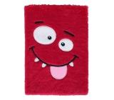 Albi Blok chlpatý ksichtíkov červený 16 cm x 22 cm