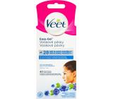 Veet Easy-Gel Tvár depilačné voskové pásky pre citlivú pokožku 40 kusov