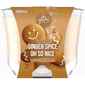 Glade Maxi Ginger Spice Oh So Nice s vôňou perníkového korenia a vanilky vonná sviečka v skle, doba horenia až 52 hodín 224 g