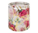 Bolsius Ruže s kryštálmi vonná sviečka v skle 68 x 80 cm, doba horenia 23 hodín