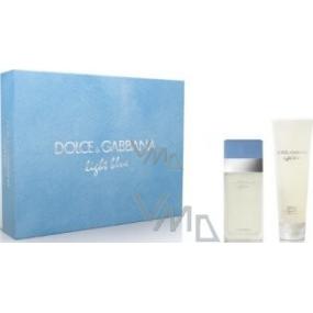 Dolce & Gabbana Light Blue toaletná voda 25 ml + telový krém 50 ml, pre ženy darčeková sada