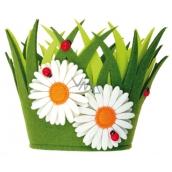 Květináč z filcu dekorace 18 x 15 cm 1 kus