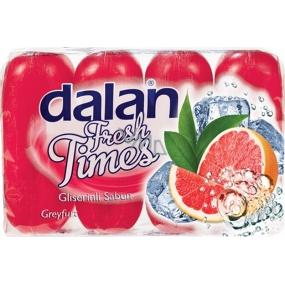 Dalan Fresh Time Grapefruit glycerinové tuhé toaletní mýdlo 4 x 90 g