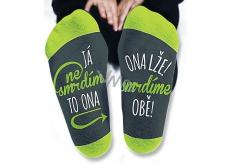 Nekupto Rodinné darčeky s humorom Ponožky Ja nesmrdím, veľkosť 39-42