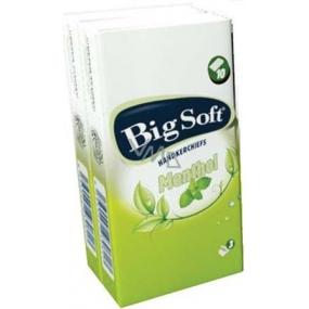 Big Soft Mentol kapesníky 3 vrstvé parfémované s vůní mentolu 1 kus