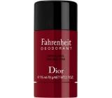 Christian Dior Fahrenheit deodorant stick bez alkoholu pro muže 75 ml