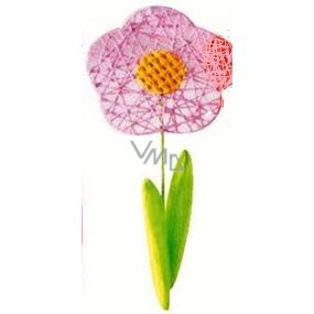 Kvetina veľká svetlo ružová prepletaná 49 cm