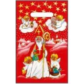 Anjel Igelitová taška červená Mikuláš, anjelici 32 x 20 cm