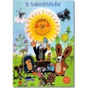 Albi Svietiace prianie do obálky K narodeninám Krtko a slniečko 14,8 x 21 cm