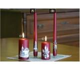 Lima Relief zimné sviečka metal vínová kužeľ 22 x 250 mm 1 kus