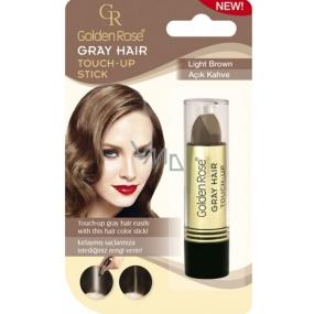 Golden Rose Gray Hair Touch-Up Stick farbiaci korektor na odrastené a šedivé vlasy 06 Light Brown 5,2 g