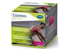 Cosmos Active Kinesiology kineziologická tejpovacia páska ružová 5 cm x 5 m