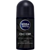 Nivea Men Deep kuličkový antiperspirant deodorant roll-on 50 ml