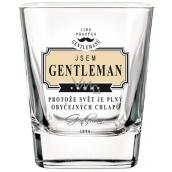 Nekupto Liga Pravých Džentlmenov Whisky pohár Som Gentleman, pretože svet je plný obyčajných chlapov 7 x 7 x 9 cm