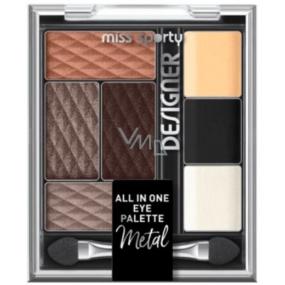 Miss Sporty Designer All in One Eye Palette paleta očných tieňov 300 9,5 g
