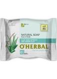 O Herbal Natural Aloe Vera a zelená hlina prírodné toaletné mydlo 100 g