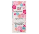Bohemia Gifts & Cosmetics Mliečna čokoláda Pre ženu k narodeninám - Kvety 100 g