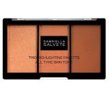 Gabriella salva Trio highlighting Palette paletka troch púdrov pre rozjasnenie a kontúrovanie pleti 15 g