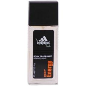 Adidas Deep Energy parfumovaný deodorant sklo pre mužov 75 ml