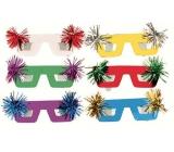 Škraboška brýle se střapečkem 6 kusů