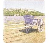 Bohemia Povoz s pozadím dekorativní kachlík 10 x 10 cm