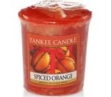 Yankee Candle Spiced Orange - Pomeranč se špetkou koření vonná svíčka votivní 49 g