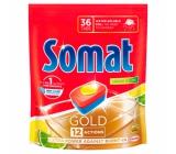 Somat Gold Lemon & Lime tablety do umývačky 12 funkciami odstraňujú aj tie najodolnejšie zvyšky a škvrny od čaju i kávy a poskytnú perfektné výsledky umývania už pri 40 ° 36 tabliet