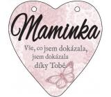 Albi Závesná plaketka srdce Mamička 9 cm x 10 cm