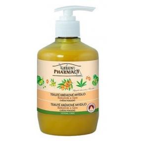 Green Pharmacy Rakytník a Lipa tekuté krémové ochraňujúci mydlo 460 ml
