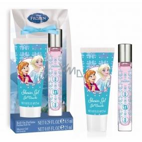 Disney Frozen toaletná voda roll-on pre deti 8,5 ml + sprchový gél 25 ml, darčeková sada