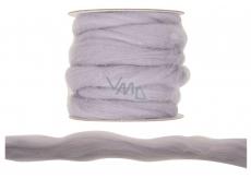 Vlna polyesterová příze kouřová 3 m
