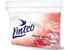 Linteo Care & Comfort jemné vatové tyčinky sáčok 200 kusov