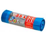 Alufix Premium Sáčky do odpadkového koša zaťahovacej modré 20 μ, 35 litrov, 53 x 60 cm, 15 kusov