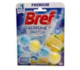 Bref Perfume Switch Marine-Citrus WC blok s vôňou sviežosti a citrusu efekt zmeny vône 50 g
