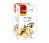Apotheke Natur Zázvor a rakytník ovocný čaj napomáha k tráveniu, dýchanie a duševnej pohode 20 x 2 g
