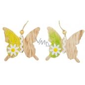 Motýli na zavěšení dřevění 8,5 cm, 2 ks
