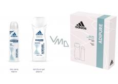 Adidas adiPURE dezodorant sprej pre ženy 150 ml + sprchový gél 250 ml, kozmetická sada